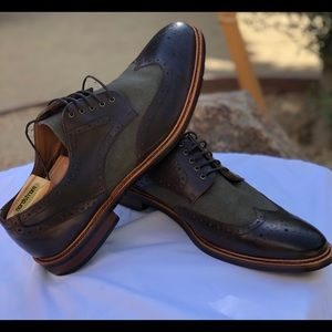 NW Gordon Rush Percy Wingtip Leather Shoes Size 13